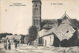 DEPT 54 - ROSIERES Après La Grande Guerre 1914 -  La Place Et L'Eglise - ENCH - - France