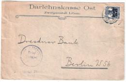 POSTGEBIET OB OST Oberbefehlshaber Ost 10.3.1918 LIBAU Kurland Liepaja Portopflichtige Dienstsache Frei Darlehnskasse Li - Besetzungen 1914-18
