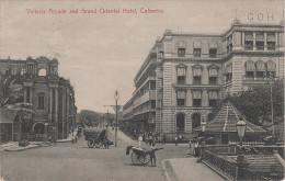 AK Colombo Victoria Arcade And Grand Oriental Hotel Rikscha Sri Lanka Ceylon Asien Asia Commonwealth United Kingdom - Sri Lanka (Ceylon)