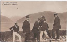 Kaiser Wilhelm II Auf Seiner Nordlandreise In Norwegen + Gefolge In Wangnäs Am Sognefjord Norway Ua Maler Johan Chr DAHL - Königshäuser