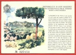 CARTOLINA NV SAN MARINO - Ente Governativo Turismo Sport E Spettacolo - Illustrata Frattini - Numerata - 10 X 15 - San Marino