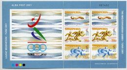 ALBANIA 2001 Mediterranean Games Sheetlet  MNH / **.  Michel Block 133 - Albania
