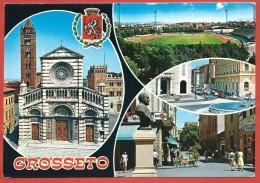 CARTOLINA NV ITALIA - GROSSETO - Panorama - Vedutine - 10 X 15 - Grosseto