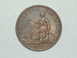 Jeton 1858 Melbourne Victoria Peace & Plenty Australie - Professionnels / De Société