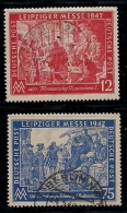 GERMANY, ALLIED OCCUPATION, 1947, Cancelled Stamp(s) Leipziger Messe, MI 965-966, #13396 Complete - American,British And Russian Zone