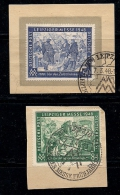 GERMANY, ALLIED OCCUPATION, 1948, Cancelled Stamp(s) Leipziger Messe, MI 967-968, #13398, Complete - American,British And Russian Zone