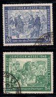 GERMANY, ALLIED OCCUPATION, 1948, Cancelled Stamp(s) Leipziger Messe, MI 967-968, #13399, Complete - American,British And Russian Zone