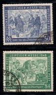 GERMANY, ALLIED OCCUPATION, 1948, Cancelled Stamp(s) Leipziger Messe, MI 967-968, #13399, Complete - Gemeinschaftsausgaben