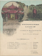 Indochine Tonkin Programme Pour Le Kiosque De Musique D'Hanoï Au Jardin Botanique 1897 F.H. Schneider RRR TB - Programme
