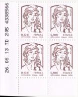 Coins Datés 2014 - Marianne De Ciappa Et Kawena  - 26.06.13  TD 205  4338566    (4 X 0,10€) - 2010-....
