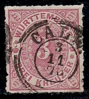 GERMANY, Wuertemberg, 1869, Cancelled Stamp(s) Numbers In Oval,  MI38, #13422, - Wurttemberg