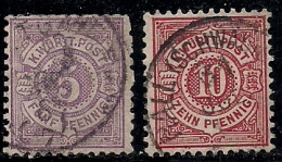 GERMANY, Wuertemberg, 1869, Cancelled Stamp(s) Numbers In OvalCircel,  MI44-=50, #13423, 2 Values Only - Wurttemberg