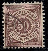 GERMANY, Wuertemberg, 1869, Cancelled Stamp(s) Dienstmarke,  MI D101-102, #134234, 1 Value Only - Wurttemberg