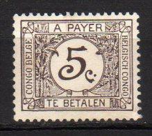 CONGO BELGA - 1923 Scott# J1 * - Congo Belge