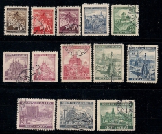 GERMANY, BOHMEN & MAREN, 1939, Cancelled Stamp(s) Fruits & Buildings,  MI 20=37 #13426, 13 Values Only - Occupation 1938-45