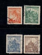 GERMANY, BOHMEN & MAREN, 1940, Cancelled Stamp(s) Fruits & Buildings,  MI 38=41 #13429,  Complete - Occupation 1938-45