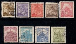 GERMANY, BOHMEN & MAREN, 1941, Cancelled Stamp(s) Fruits & Buildings,  MI 65-72  #13434,    Complete - Occupation 1938-45