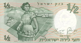 ISRAEL 1/2 LIRA 1958 PICK 29a UNC - Israel