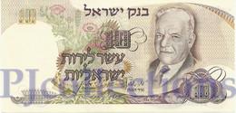 ISRAEL 10 LIROT 1968 PICK 35c UNC - Israel