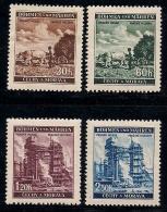 GERMANY, BOHMEN & MAREN, 1941, Hinged Unused Stamp(s)  Fruits & Buildings,  MI 75-78,  #13436, - Occupation 1938-45