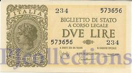 ITALY 2 LIRE 1944 PICK 30a UNC - Italia – 2 Lire