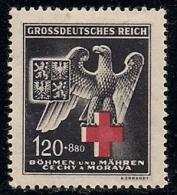 GERMANY, BOHMEN & MAREN, 1943, Hinged Unused Stamp(s)  Red Cross, MI 132  #13453, - Occupation 1938-45