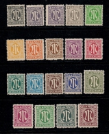 GERMANY, ALLIED OCCUPATION , 1945, Hinged Unused Stamp(s) Numbers, MI 16=35  #13404, 19 Values Only - American/British Zone