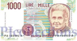 """ITALY 1000 LIRE 1990 PICK 114a """"A"""" UNC - 1000 Lire"""