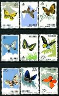 China 1963 S56  Butterflies 4f-30f (9) Fresh  MNH - 1949 - ... Repubblica Popolare