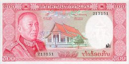 LAOS 500 KIP 1974 PICK 17a AUNC - Laos