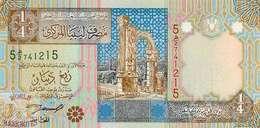 LIBYA 1/4 DINAR 2002 PICK 62 UNC - Libye