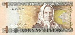 LITHUANIA 1 LITAS 1994 PICK 53a UNC - Lituanie