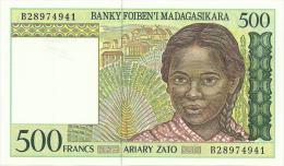 MADAGASCAR 500 FRANCS 1994 PICK 75 UNC - Madagascar