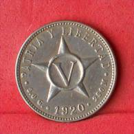 CUBA  5  CENTAVOS  1920   KM# 11,1  -    (Nº11312) - Cuba