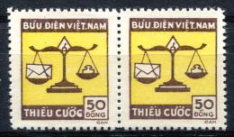 NORTH VIETNAM 1955 - Porto Mi.14 (Sc.J14, Yv.Taxe 1) Pair MNG (as Issued) VF - Vietnam