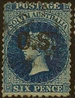 SOUTH AUSTRALIA 1874 6d Official SG O9 U #LI64 - 1855-1912 South Australia