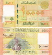 Lebanon-Liban New Issued 10.000 LL Banknote Dated 2014- Uncircu.Perfect,scan Recto/Verso- Serial No May Be Diff.-SKRILL - Lebanon