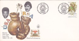 Bophuthatswana 1980 Boxing World Title Fight Souvenir Cover - Unclassified