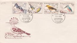 Czekoslovakia 1959 Birds FDC - Non Classés