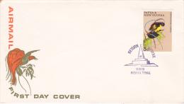 Papua New Guinea 1970 Bird  On Souvenir Cover, Return To Wewak - Unclassified