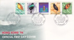 Papua New Guinea 1994 Hong Kong'94 Exhibition FDC - Birds