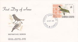 Samoa 1969 Definitives Birds $ 4 Samoan White-Eye FDC - Birds