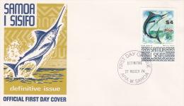 Samoa 1974 Definitives Fauna $4 Black Marlin FDC - Birds