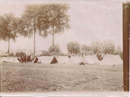 Photo Guerre 1914-18 - Un Campement à L'arrière, Sans Doute Le Groupe D'observation Des Aérostiers - War, Military