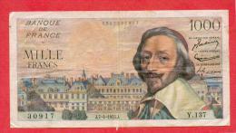 1000 FRANCS RICHELIEU DU 7.4.1955 - 1871-1952 Anciens Francs Circulés Au XXème