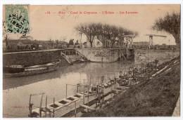ARLES - Canal De Craponne - L'Ecluse - Les Laveuses - TRES RARE ! 1907 TBE - Arles
