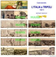 RARO Calendarietto L'ITALIA A TRIPOLI 1911 - REPRINT GRAFICO - NUOVO - Formato Piccolo : 1901-20