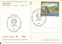 ART1182 - BELLE ARTI -SELF PORTRAIT AUTORITRATTO SEGANTINI (TRENTO)- F.G. NON VIAGGIATA CON ANNULLO SPECIALE 10.5.1987 - Paintings
