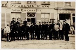 Carte-photo - SAINT ANDRE De L´EURE - Hotel Du Cheval Blanc - Guersent Fils - Militaires , état Major - TRES RARE ! - Marcilly-sur-Eure