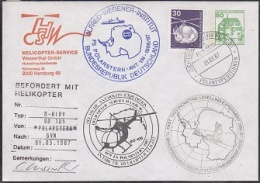 Germany 1987 Heli Flight Von Polarstern To Georg Van Neumayer Station Cover (20068) - Stamps